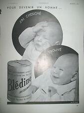 PUBLICITE DE PRESSE BLEDINE JACQUEMAIRE BéBé FRENCH AD 1934