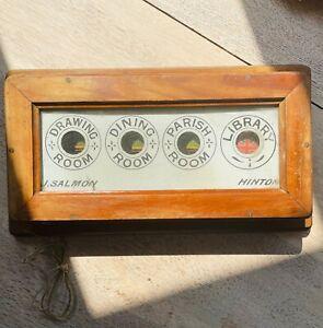 Vintage Butler Servants Call Box 4 Windows J Salmon Hinton