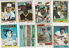 LOT (8) 2015 TOPPS ORIGINAL INSERT / BUY BACK 70'S  VINTAGE CARDS 1975 - 1979