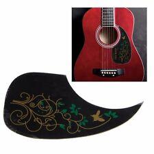 Pickguard Scratch Plate auto-adhésif pour guitare acoustique Vert Papillon fleur