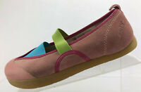 Kalso Earth Intrigue Flats Shoes Pink Multi Color Leather Comfort Womens Sz 8B