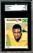 1974 EDIF Calcio 74 Pele Iconic card!  Not rookie BUT super sought after!