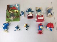 Vintage Lot Of Smurf Schleich Peyo Figures Toys 1980's