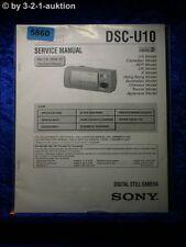 Sony Service Manual DSC U10 Level 2 Digital Still Camera (#5860)