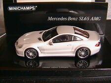 MERCEDES SL65 AMG R230 2009 MATT SILVER MINICHAMPS 436038220 1/43 LINEA OPACA 4