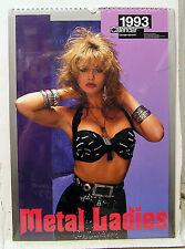 """1993 Metal Ladies Pin-Up Calendar-12 prints- 12""""x16"""" (FW-CAL-ML93)"""