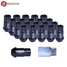 20pcs 44MM Black Wheel Lug Nuts Locking Key M12X1.5 For Honda Civic Toyota Yaris