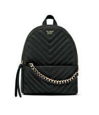 Victoria's Secret VS V-Quilt Small City Black Backpack
