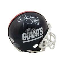 Lawrence Taylor HOF Autographed New York Giants Replica Mini Football Helmet BAS