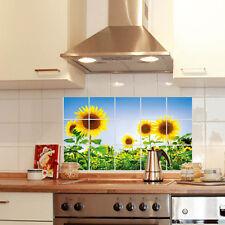 Hot! Cocina Decoración de petróleo a prueba de papel de aluminio Pared Adhesivo Papel Girasol cubierta del Reino Unido