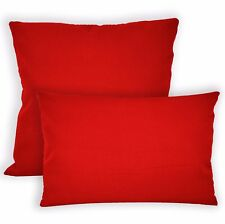 Aw01a Bright Red High Quality 12oz Cotton Cushion Cover/Pillow Case Custom Size