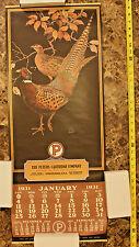 Vintage 1931 1981 Collectible Calendar Art, Peters Cartridge Company