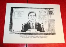 DAN RATHER NEWT GINGRICH & CONNIE CHUNG 1995 JEFF KOTERBA POLITICAL CARTOON