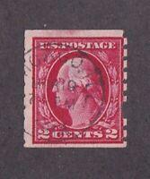 United States stamp #413, used, fault, perf damage, filler,  SCV $50.00