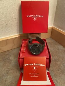 Swiss Legend Men's Neptune Watch - Phantom Grey - Swiss Quartz - 48mm