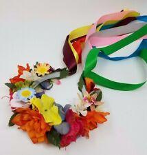 Gift Ukrainian Blue and Yellow Flower Hair Clip
