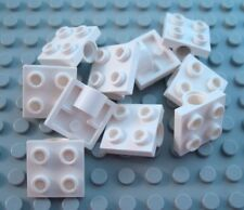 LEGO Lot of 10 White 2x2 Plates with Single Pin Hole