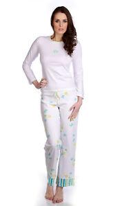 Hering Junior 100% Cotton LongSleeve CrewNeck Floral Print Pajama Set 76FR
