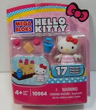 Mega Bloks Hello Kitty 10964 Beach 17 Pieces Includes Figure New