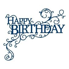Tattered Lace HAPPY BIRTHDAY SWIRL Die - TLD0573 - FREE UK P&P
