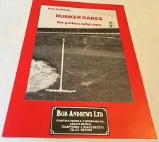 ANDREWS Bunker Rakes For Golfers Bob Andrews Original 1970s Sales Brochure