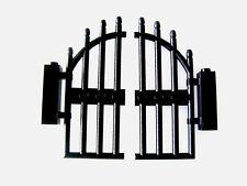 Lego Portail noir 1x4x9 & fixations neufs / New Black Arched Gate REF 42448