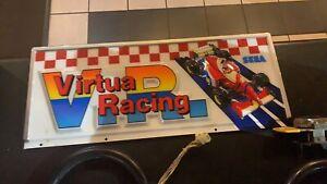 sega virtua racing arcade top sign marquee