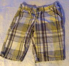 Roxy Size 3 Gray, Yellow, And White Plaid Shorts Long Bermuda