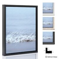 Schattenfugenrahmen Bilder Leinwand Keil Rahmen Weiß Schwarz Vintage ohne Glas