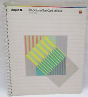Vintage 1982 Apple II  2 Computer 80 Column Text Card Manual