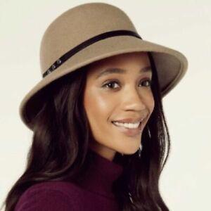 NWT Nine West Wool Felt Trench Cloche Hat