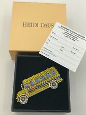 HEIDI DAUS School Days Crystal School Bus Pin NEW IN BOX  Warranty  Genuine $130