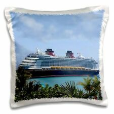 STATS Mickey Anchor Throw Pillow New Disney CRUISE LINE SHIPS