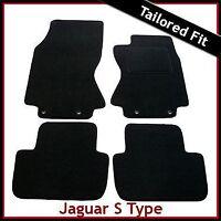 JAGUAR S-TYPE Automatic 2002-2008 Tailored Carpet Car Floor Mats BLACK