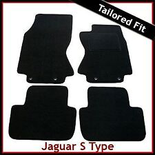 JAGUAR S-TYPE Automatic 2002-2008 Tailored Carpet Car Floor Mats BLACK
