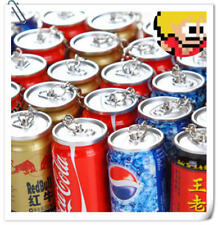 Creative Stationery Coke Pen Beverage Retractable Ballpoint Pen Can Keychain