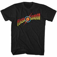 Flash Gordon Flash Gordon Logo Black T-Shirt