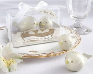 60 Feathering the Nest Birds Salt & Pepper Shakers Baby Shower Party Favors