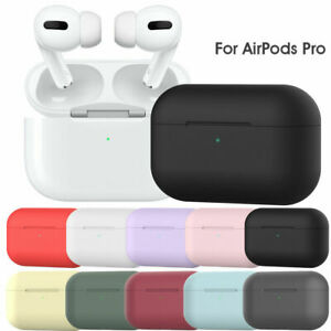 Silicone Airpod Pro Case Soft Cover With Belt Clip For Apple AirPods