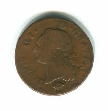 FRANCE - 1 Liard 1791 Copper Coin - Louis XVI - KM#585