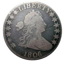 Draped bust half dollar 1806/5 overdate nice example Overton-101