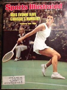 April 26 1976 Goolagong Chris Evert Tennis Sports Illustrated Magazine Vintage
