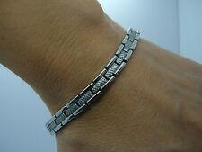 pour dames élégant Bio Magnétique Bracelet teinte argenté 5 en 1 lsf1