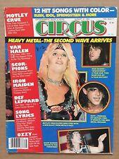 Vintage Original August 1984 Circus Magazine Heavy Metal The Second Wave Arrives