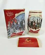 2015 Budweiser Holiday Stein First Snow Of The Season 35th Anniversary Edition