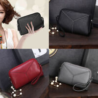 Women Lady's Leather Clutch Handbag Wallet Long Card Holder Phone Bag Case Purse