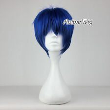 25CM Dark Blue Short Layered Style Hair Men Women Anime Cosplay Wig