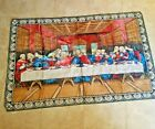Jesus Last Supper plush tapestry rug wall hanging Italy