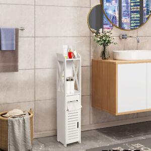 Badezimmerschrank Badmöbel Schrank 80cm Hochschrank Badschrank Weiß Badregal
