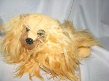 Vintage Afghan Hound Cocker Spaniel Larmar La Mar Stuffed Plush Silky Brown Dog